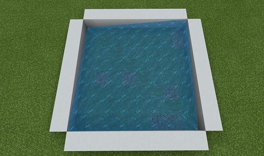 マイクラ コンクリートパウダーの角に水