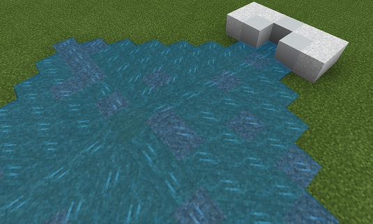 マイクラ コンクリートパウダーのコンクリート化